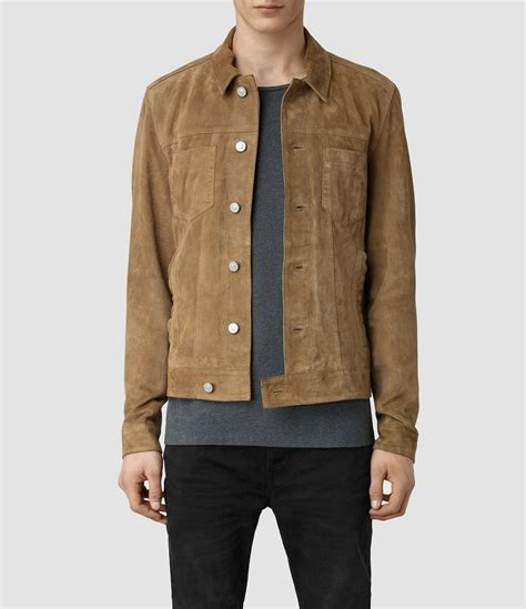 suede jacket lyst allsaints ocarno suede jacket in for