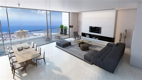 apartment livingroom living room sea view interior design ideas