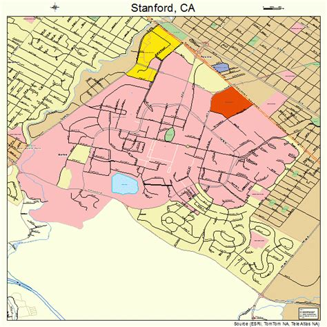 map of stanford california stanford california map 0673906