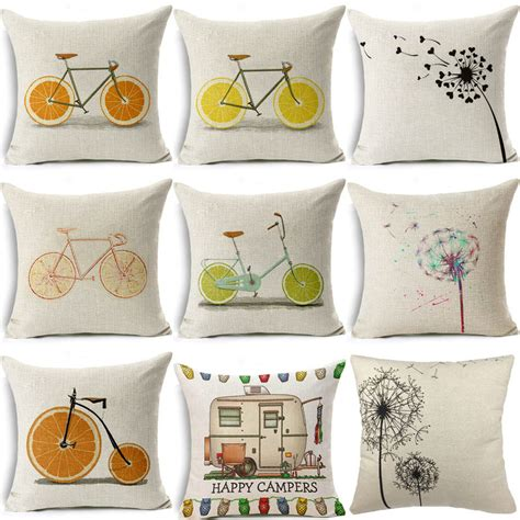 decorative sofa covers aliexpress buy plain linen cushion covers for sofa