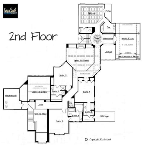 builder floor plans plan 7500 italian villa