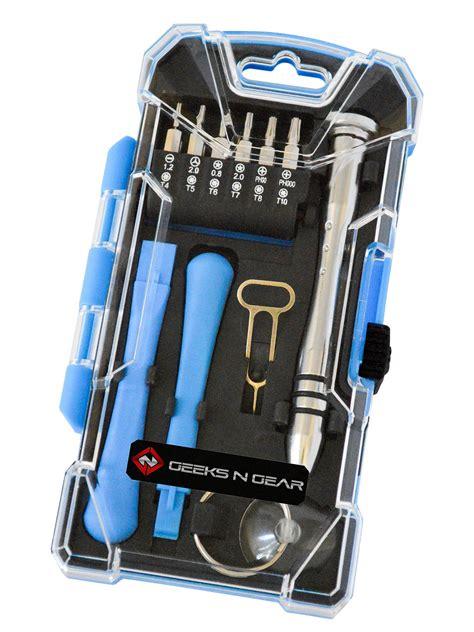 17 In 1 Precision Screwdriver Repair Tool Set For Iphon Rftool cell phone repair kit 17 in 1 premium screwdriver tool
