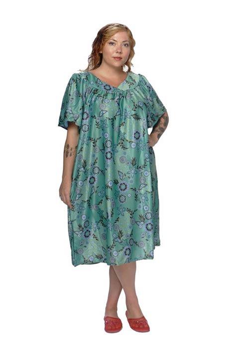 cotton house dresses plus size mumu house shifts dresses duster floral prints s m l xl 1x 2x 3x 4x 5x 6x poly ebay