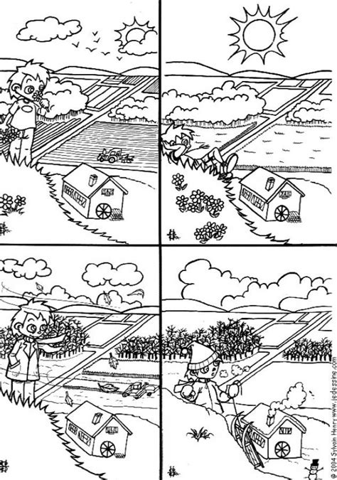 four seasons coloring pages hellokids com
