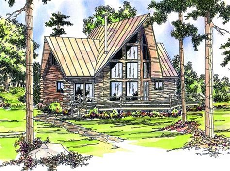 free home plans a frame log home plans