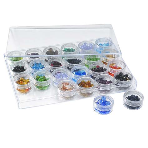 acrylic bead organizer tray with 24 jars