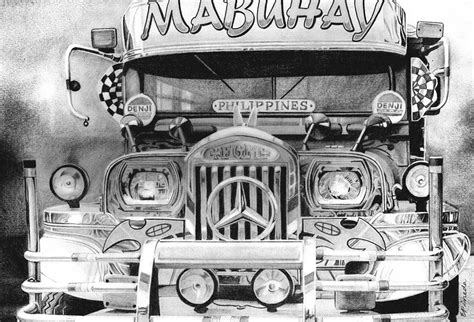 philippine jeep drawing bip bib ang pasaherong jeepney drawing by erwin pineda