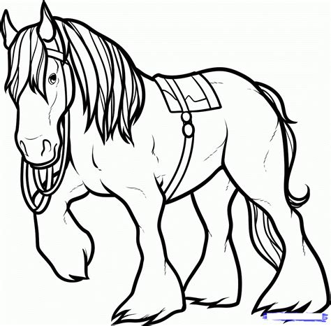 horses to color free color pages activity shelter