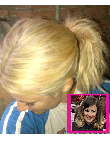 caroline flack dip dyed hair new hair caroline flack ditches her dip dyed hairstyle