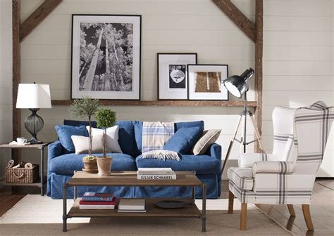Ethan Allen Denim Sofa a denim slipcover can summer ify almost anything shown