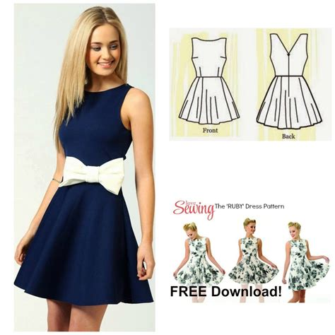 free dress pattern the ruby dress my handmade space