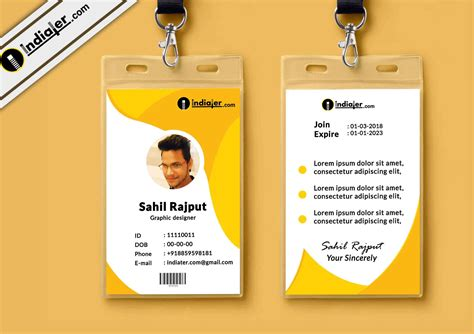 department id card template free indiater multipurpose corporate office id card free psd