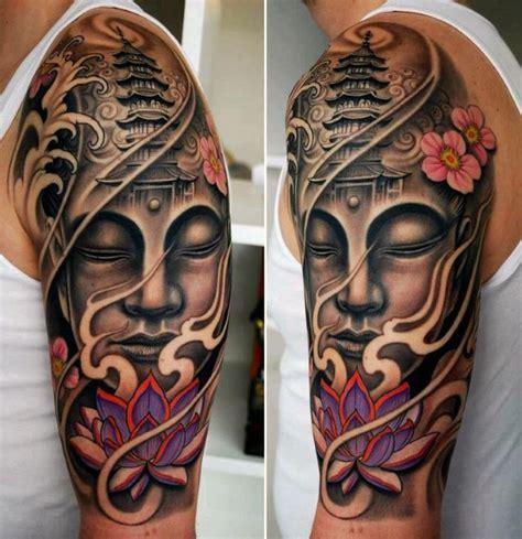 tattoo japanese buddha 100 buddhist tattoos for men buddhism design ideas