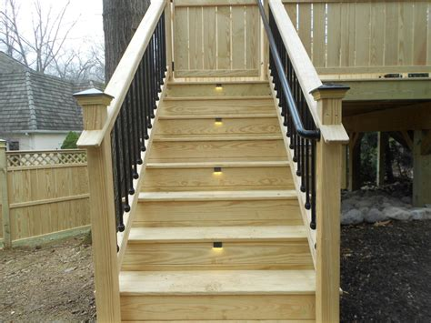 how to install deck lights on stairs ideas for deck stair lights home design