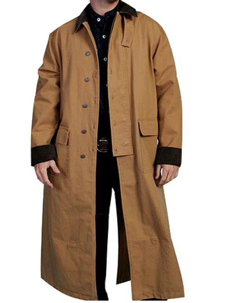 Jacket Westren Style 5 scully western jacket mens west canvas duster button front rw107 ebay
