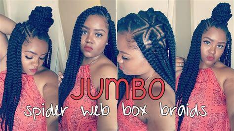 diy spider web jumbo box braids black hair diy spider web jumbo box braids black hair