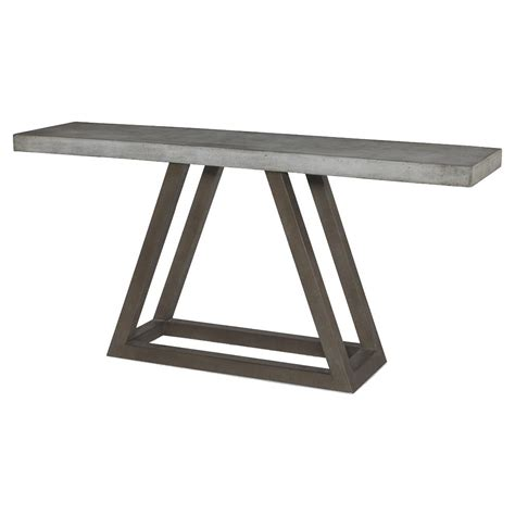 outdoor console table bourne industrial triangle outdoor console table