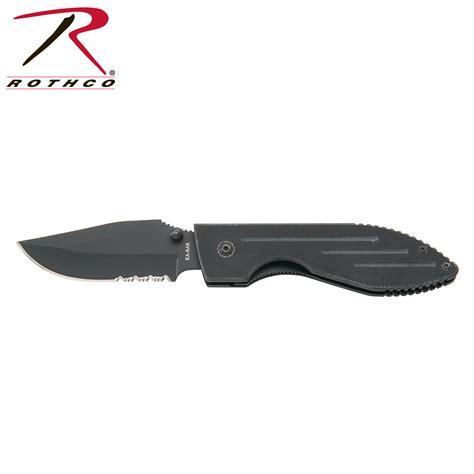 kabar folding knife ka bar serrated warthog folding knife