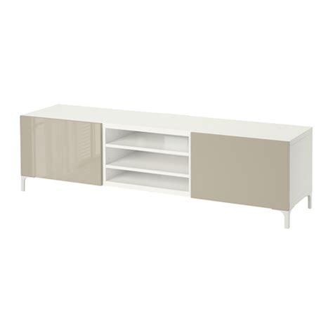 besta beige best 197 tv unit with drawers white selsviken high gloss