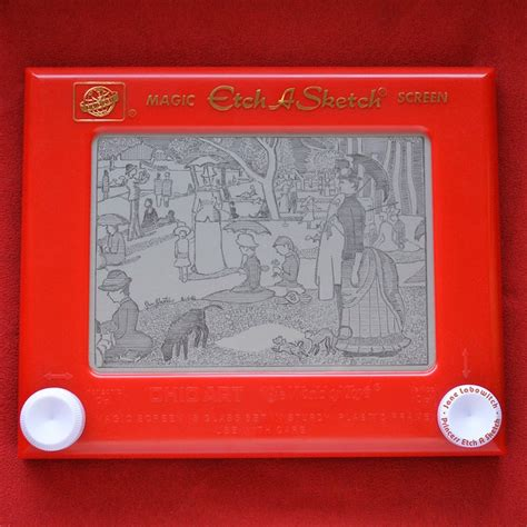 Etch A Sketches by Impressive Etch A Sketch Of Georges Seurat S Iconic