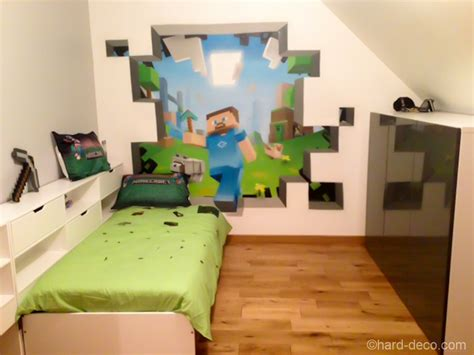 minecraft bedroom ideas in real house made of paper - Minecraft Room Ideas
