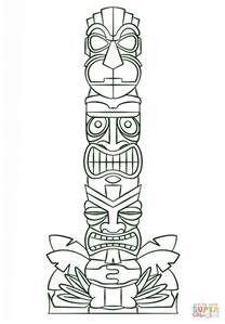 printable tiki mask coloring pages kids coloring