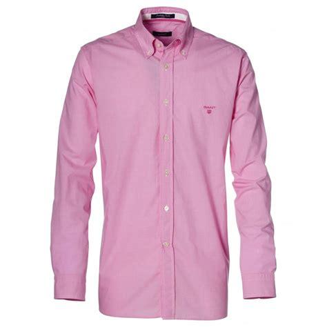shirts for gant manhattan poplin checked shirt gant from gibbs