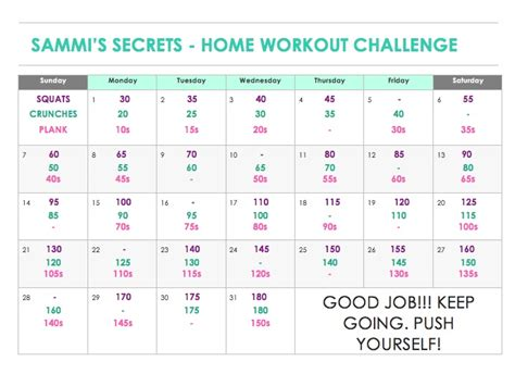 home workout challenge sammi s secrets