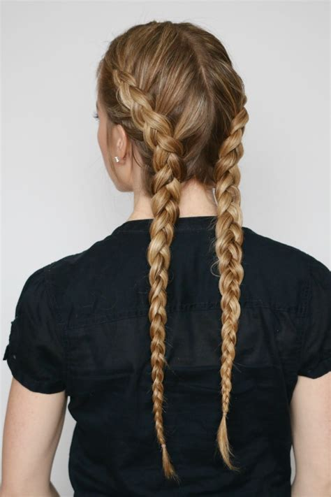 easy hairstyles with two braids two dutch braids missy sue