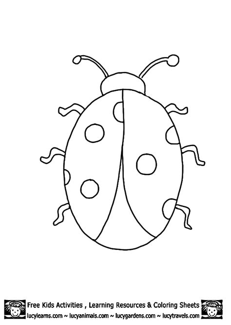 ladybug outline template printables embroidery etc
