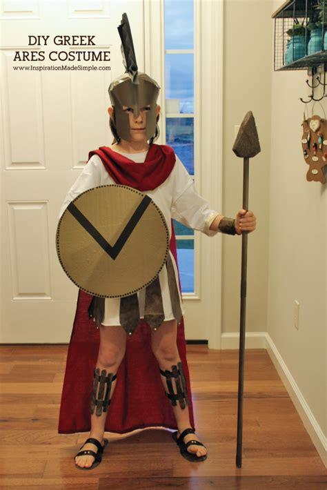 diy ares greek mythology costume inspiration  simple