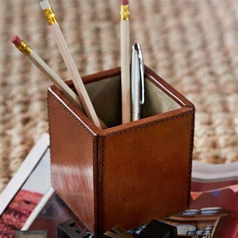 leather  pot holderleather   pencil holder