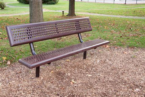 park bench photos empty metal park bench royalty free stock photo image