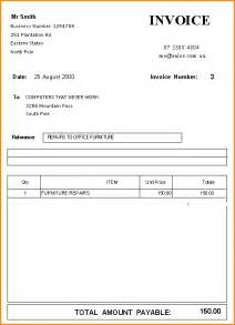 standard invoice template excel doc 513666 standard invoice format free invoice