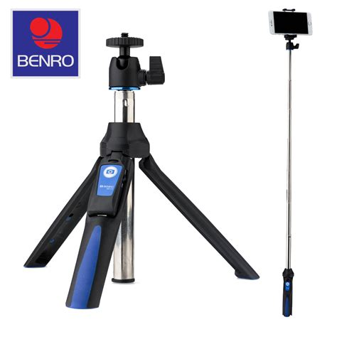 Tongsis Benro Smart 3 In1 With Remote Bluetooth For Gopro Smartphone benro mini tripod selfie stick with adapters for gopro and smartphones 6931747336081