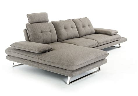 modern sofa grey divani casa porter modern grey fabric sectional sofa