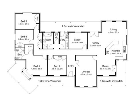 5 bedroom floor plans australia the strickland 171 australian house plans