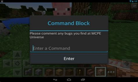 Mcpe Game Console Mod | command block mod for mcpe latest version apk