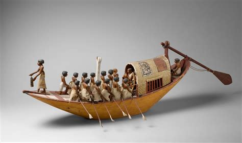 ancient egypt boats and transportation travelling boat being rowed middle kingdom the met