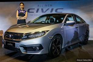 Used Cars In Bangalore Honda Civic 2016 Honda Civic Launched In Malaysia India Launch Soon