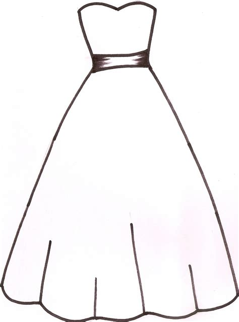 Outline Of Clipart dress outline clipart