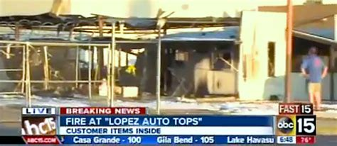 Local Auto Upholstery Shop by Trim Shop Destroyed In
