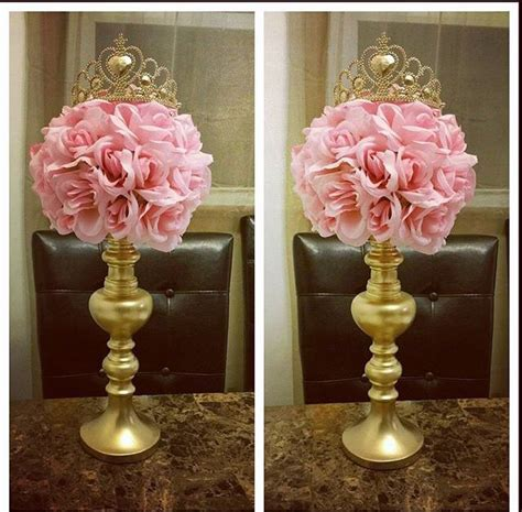 Centerpiece For A Quinceanera Sweet Princess Centerpiece Baby Shower