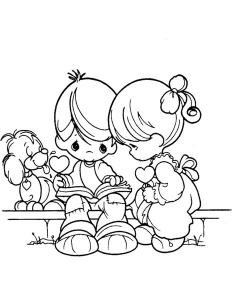 free boy and girl coloring pages