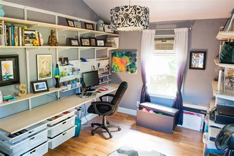 home office necessities home office organization our contest winner s quot shed quot gets a stunning makeover container stories