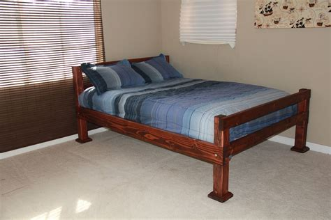 full bed size custom made rustic four corner post full size bed by scott