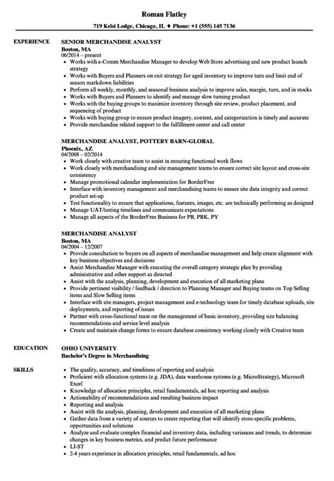Merchandise Analyst Sle Resume by Merchandise Analyst Resume Sles Velvet