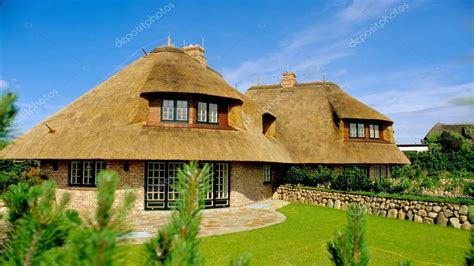 Thatched Roof Houses Thatched Roof 3 Point Perspective Thatch Roof House Plans