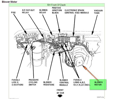 2002 buick lesabre blower motor resistor location where is the blower motor for the ac in a 1993 buick lesbre need diagram of engine not in