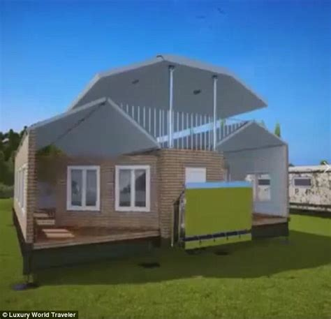 building onto your house russian company reveals collapsible house that